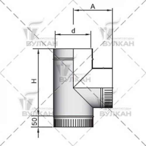 Тройник TRH 90° 120 мм