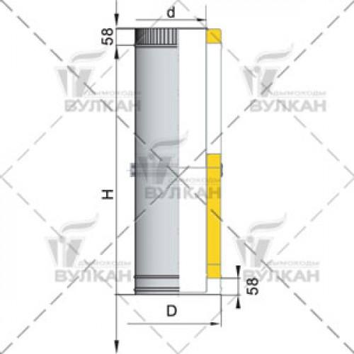 Труба телескопическая с изоляцией DTTH 250 180 мм