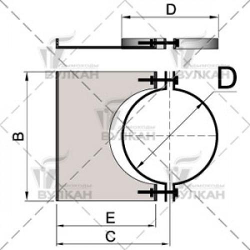 Элемент крепления к стене DHSH 120 мм