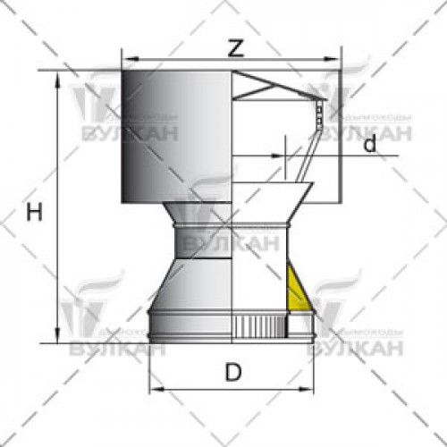 Дефлектор DDH 120 мм
