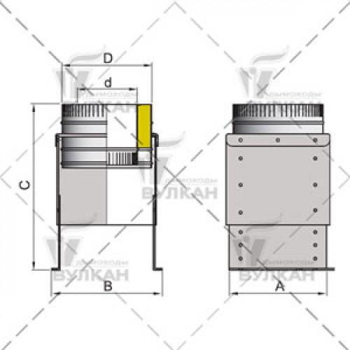 Опора напольная DOFH 115 мм