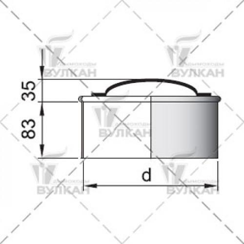 Ревизия (крышка) с изоляцией DRHи 100 мм