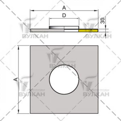 Фланец с изоляцией FHO 120 мм