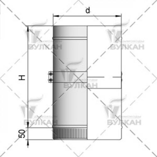 Труба телескопическая TTH 250 150 мм