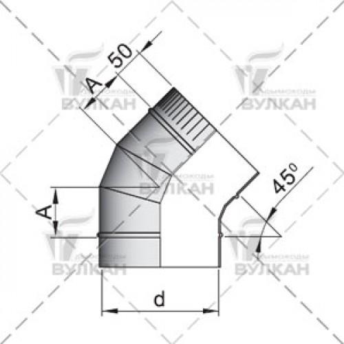 Отвод OTH 45° 120 мм