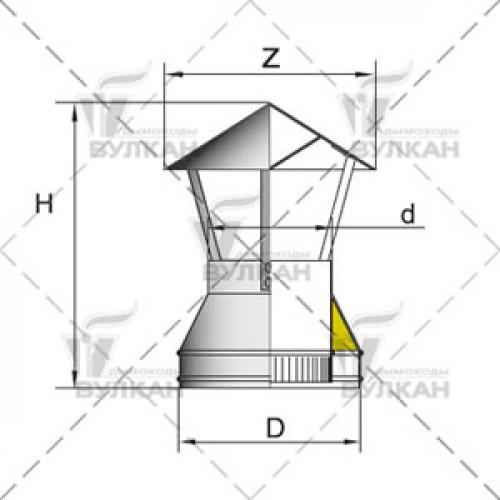 Зонт DAH 130 мм