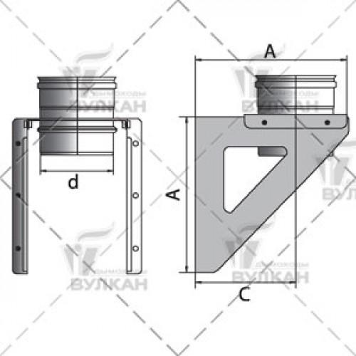 Кронштейн крепления к стене OSHR 120 мм