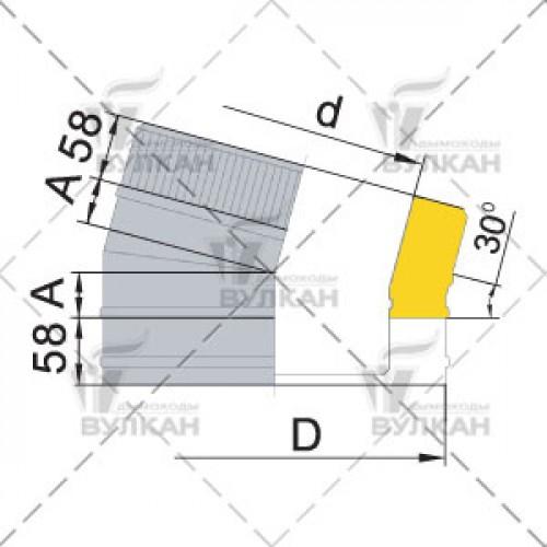 Отвод с изоляцией DOTH 15° 200 мм