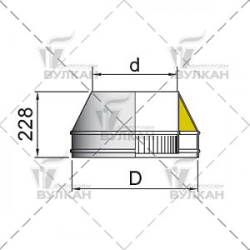 Конус DFH 200 мм