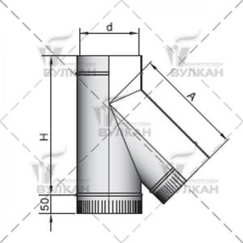 Тройник TRH 45° 150 мм