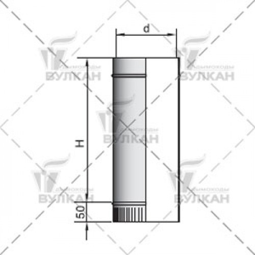 Труба прямая TH 500 120 мм